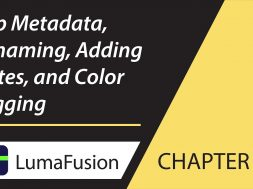9-1 Info Panel: Clip Metadata, Renaming, Adding Notes and Color Tagging in LumaFusion