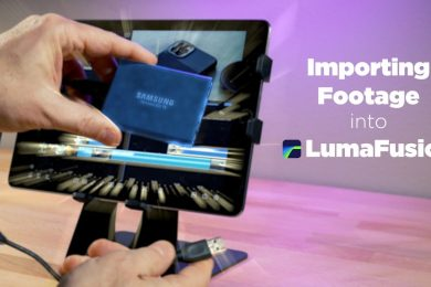 EASILY Connect an SSD To iPhone or Older iPad (to use w/ LumaFusion)
